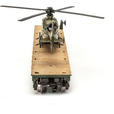 Set of 4 O Gauge Realistic Train Military Flatcar US Army Helicopter Dealer Pack