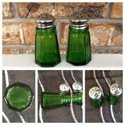 Depression Glass Salt and Pepper Shakers