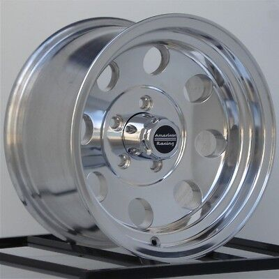 1- 15 Inch Wheels Rims American Racing Baja AR1725861 Polished Alloy 5x4.75 Lug 15 Inch Polished American Racing