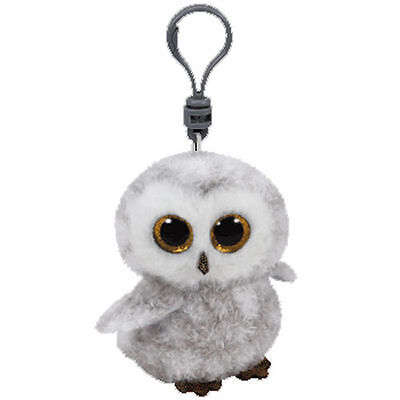 Ty Beanie Babies Boos Owlette Owl Key Clip 3  Stuffed Collectible Plush Toy New