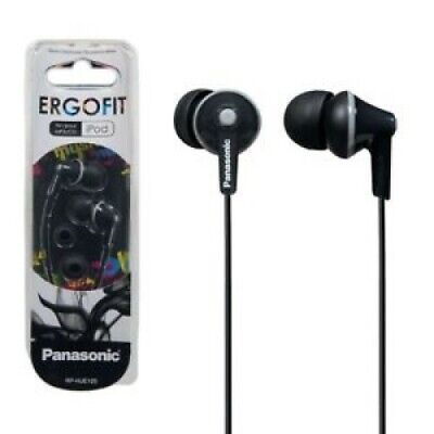 NEW Panasonic RP-HJE125-K ErgoFit In-Ear Earbuds 3.5 MM Jack - BLACK