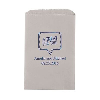 50 A Treat For You Personalized Flat Paper Goodie Bags Wedding Favors](Favors For A Wedding)