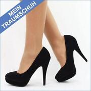Schuhe 38 Schwarz High Heels Pumps Damenschuhe