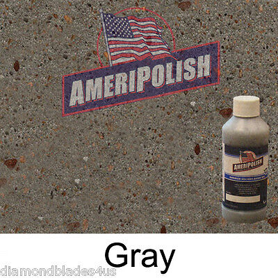 1 Gl. Gray Concrete Color Dye 4 Cement Stain Ameripolish Solvent Based