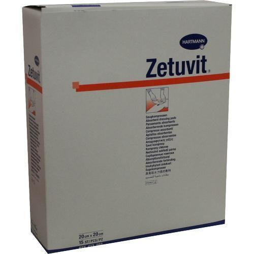 ZETUVIT Saugkompresse steril 20x20 cm 15 St