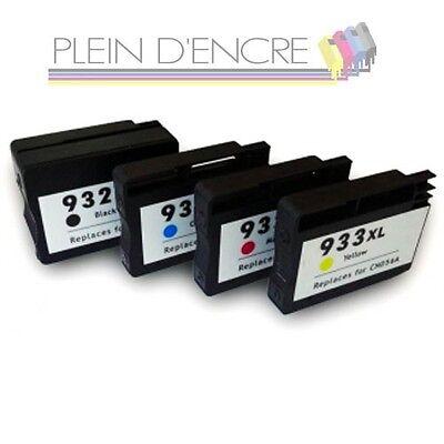 Pack 4 cartouches d'encre 932 xl et  933 xl pour imprimante hp officejet 6700