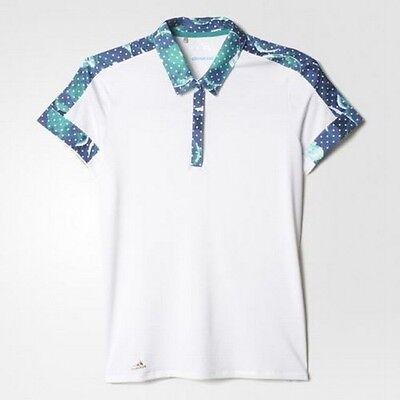 Adidas Mujer Climacool Malla Polo (S) Blanco AE8980