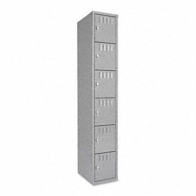 Tennsco Six-tier Box Locker - - Bolts72 X 12 X 18 - Medium Gray