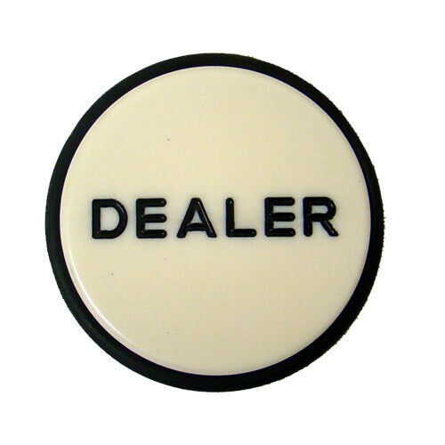 Jumbo Acrylic Poker Dealer Button Hockey Puck NEW 3 Inch