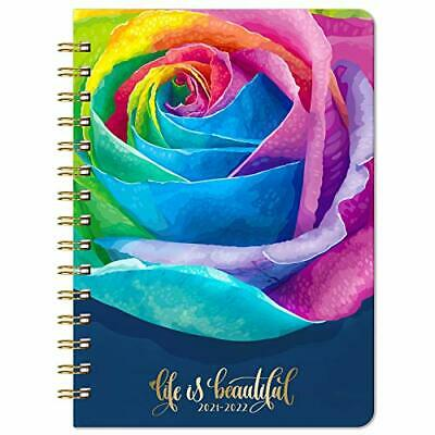 2021-2022 Weekly Monthly Planner With Rose Hard Cover July 2021 -june 2022