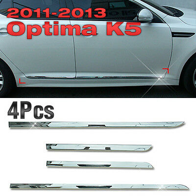 Side Door Sill Chrome Garnish Molding B750 4P Set for KIA 2011-2015 Optima / K5