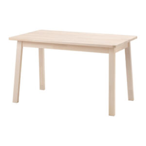 Ikea Norraker Table with two benches and two chairs