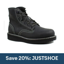 Georgia Boots Mens GB00360 Wedge Lace Black Leather Work & Safety Boots