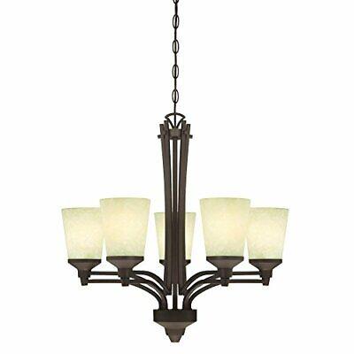 Westinghouse 6307100 Malvern Five-light Chandelier Oil Rubbed Bronze Finish