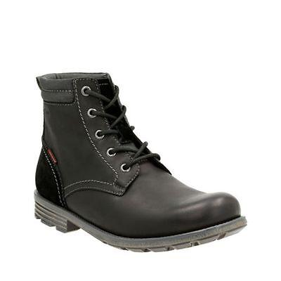 Clarks Men's Guard Peak Waterproof Black Leather Boots 26119643 Peak Waterproof Boot