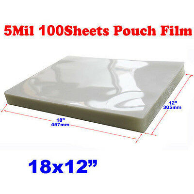 Pvc 12x18 100 Pk 5mil Glue Large Size Thermal Hot 305457mm Laminating Pouch