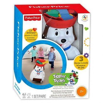 Fisher-Price Lil Snoopy Tippin Treats Game Motorized Dog with Bowl 30569B