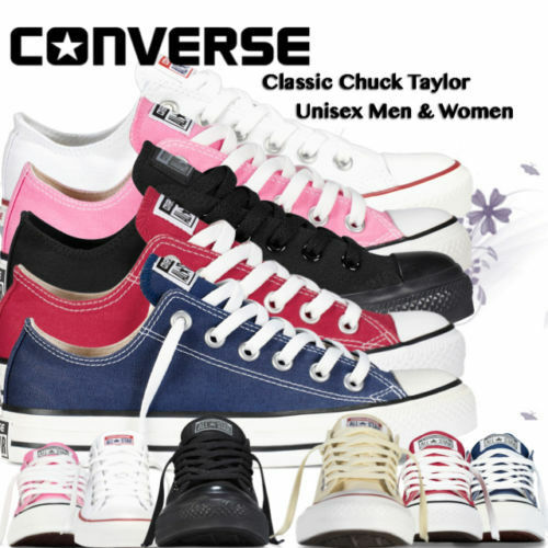 Converse Femmes Hommes Unisexe All Star Low Tops Chuck Taylor Baskets  Chaussures