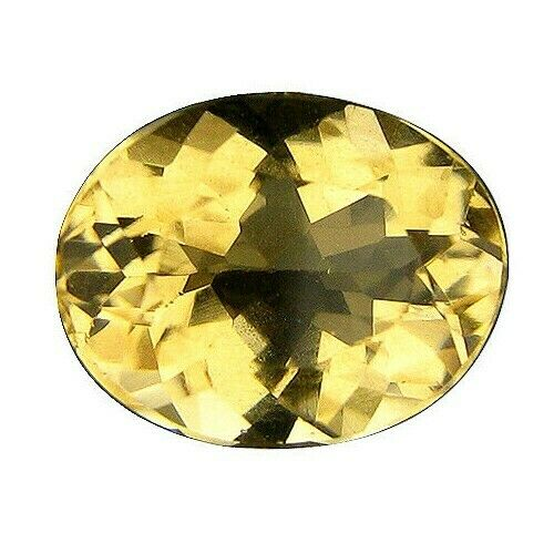 GIL Certified 1.79 Ct Natural Yellow Scapolite Untreated Oval Facetted Cut Gem