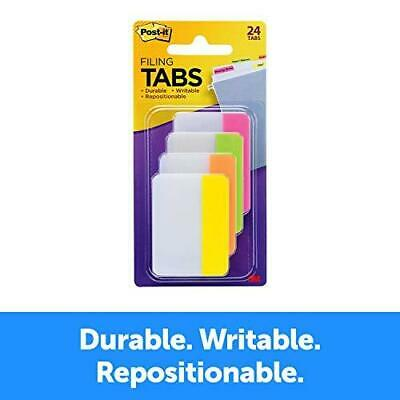 Post-it Tabs 2 In Solid Assorted Bright Colors Durable Writable