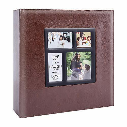 Photo Picutre Album 4x6 1000 Photos, Extra Large Capacity 1000 Pockets Brown