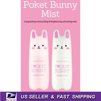 Tony Moly   Pocket Bunny Mist Sleek   Moist 2Pcs Set  New Fresh