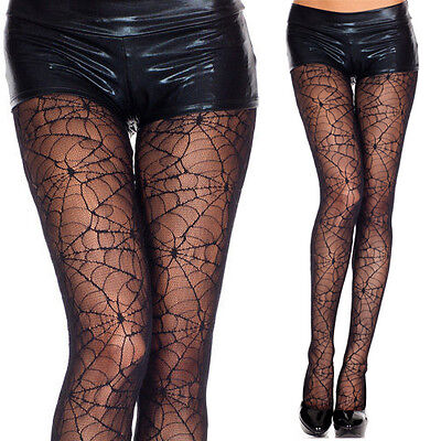 Black Gothic Cobweb Spider Web Tights Pantyhose Sheer Spiderweb Cosplay Costume](Black Spider Costume)