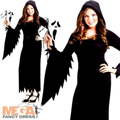 Scream Ladies Ladies Fancy Dress Halloween Horror Adult Plus Size Costume Outfit (Scream Halloween Outfit)
