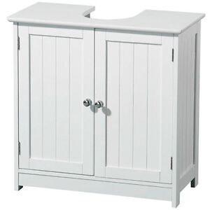 matt white under sink wood bathroom storage cabinet with