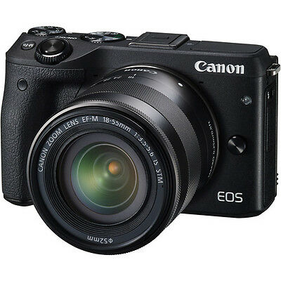 $501.27 - Canon EOS M3 Mirrorless Digital Camera with 18-55mm Lens - Black