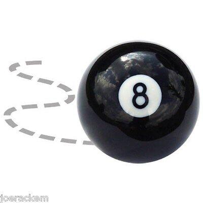 """New Crazy 8 Ball - Trick Ball - BLACK - Standard 2 1/4"""" - Regulation Weight"""