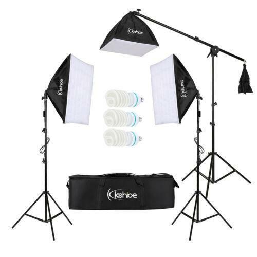 1000W Photo 3 Soft Box Video Lighting Light Stand Kit Photography Studio Set