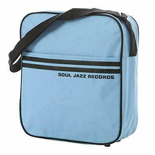 SOUL JAZZ RECORD BAG for 12 Inch / LP - DJ PORTABLE VINYL RECORD BAG NEW Blue