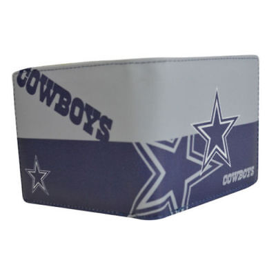 Dallas Cowboys Leather Wallet - Dallas Cowboys NFL Men's Printed Logo Leather Bi-Fold Wallet
