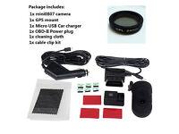 DASHCAM. Mini 0807 Ambarella A7LA50 1.5 Inch 1080P 135 Degree Wide Angle Lens Car Parking Dash Cam.