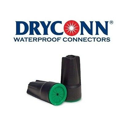 DryConn 61441 100 Pack Black/Green Waterproof Connector Silicone King Innovation