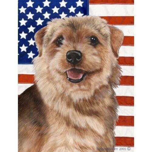 Patriotic (D2) House Flag - Norfolk Terrier 32225