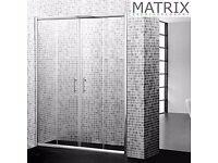 Matrix H1850mm x W1500mm Premium Economy Double Sliding Shower Door 6mm - SPE15