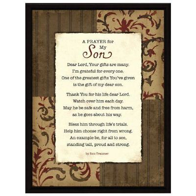 New Dexsa Prayer My Son Wood Frame Plaque With Easel Dx8513