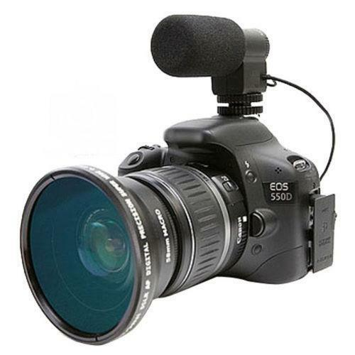 how to connect microphone to digital camera