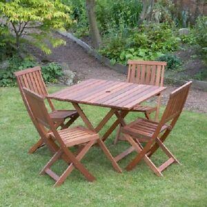 Kingfisher 5 Piece 4 Seater Wooden Garden Outdoor Furniture Set Brand New Boxed Ebay