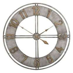 Studio Designs 30 Industrial Analog Home Wall Clock, Steel & Bronze (Open Box)