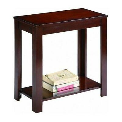 New Style Side Table Chair End Wood Stand Living Room Espresso Nightstand US