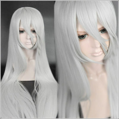 For Cosplay Halloween Nier Automata A2 YoRHa Type A No. 2 Silver White Long Wig - White Wig For Kids