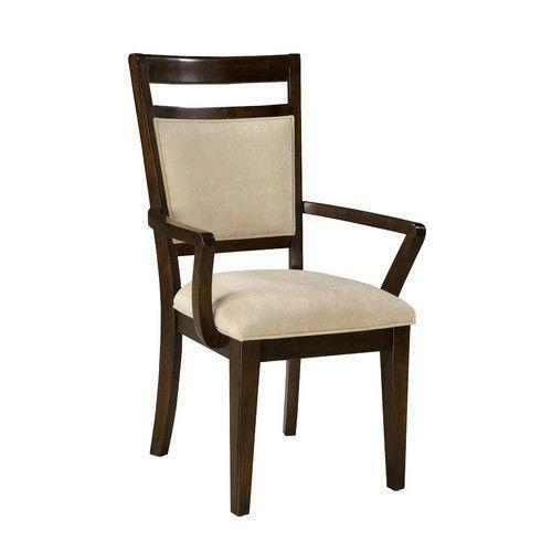 Dining room arm chairs ebay for Wood dining chairs with arms