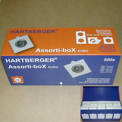 Assorti-box Hartberger voor 500 munten - emballage de luxe étuis de monnaies