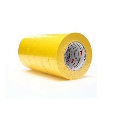 "(6) Rolls 3M Yellow 6654 1-1/2"" Masking Tape, 1 Sleeve 1.5 inch 06654 automotive"