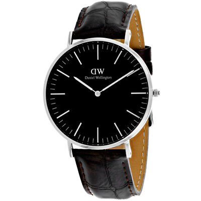 Daniel Wellington Men's York Stainless Steel/Brown Leather Watch DW00100134