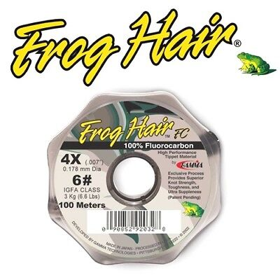 Gamma NEW Frog Hair Fluorocarbon 25m and 100m Fly Fishing Tippet All BS/'s