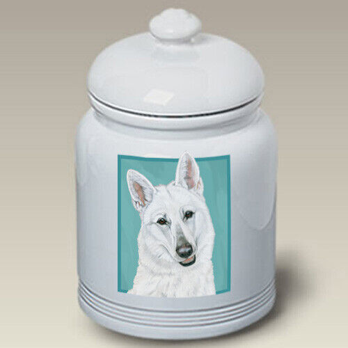 German Shepherd White Treat Jar